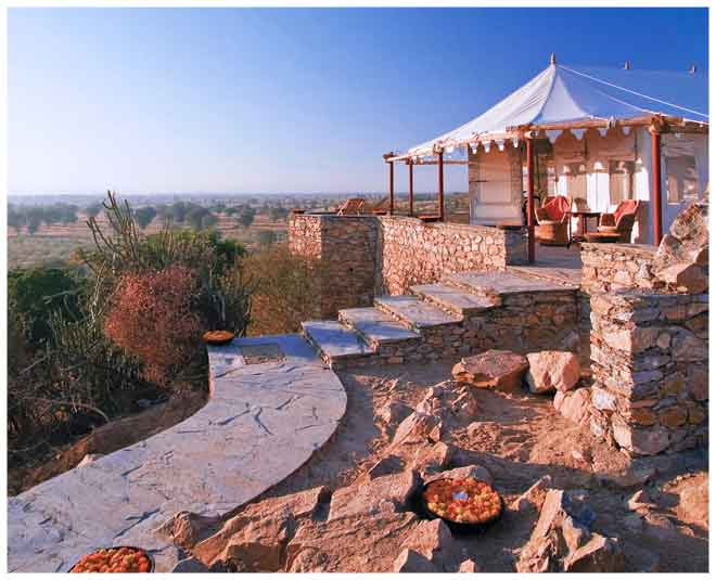 glamping resorts india chhatra sagar pali
