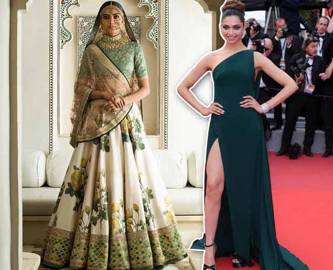 Bollywood Deepika Padukone Wedding Dress