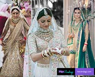 bollywood tv actress different color wedding lehenga not red thumb