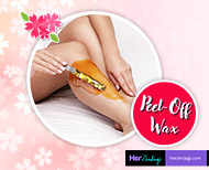 peel off wax for hair removal without pain thumb