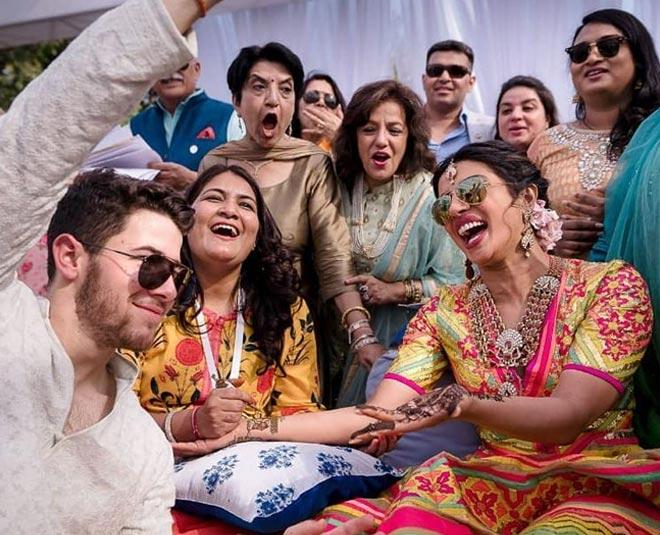 Priyanka chopra and Nick jonas mehendi ceremony first look pictures
