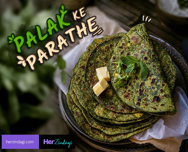 easy homemade palak paratha recipe main