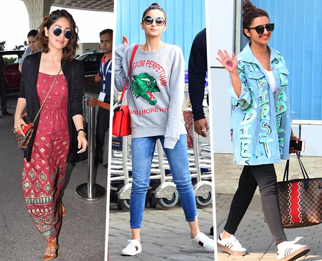 yami alia parineeti super casual airport look main