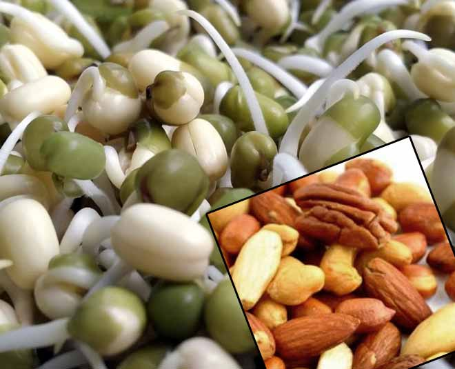 Healthy snacks sprouts