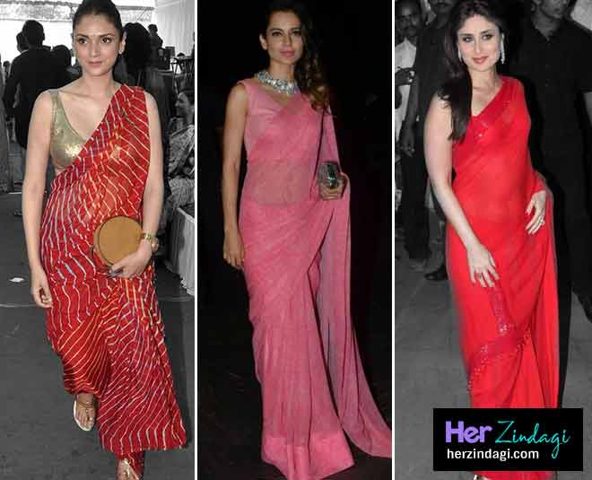 bollywood actress chiffon saree main