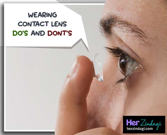 dos donts contact lens