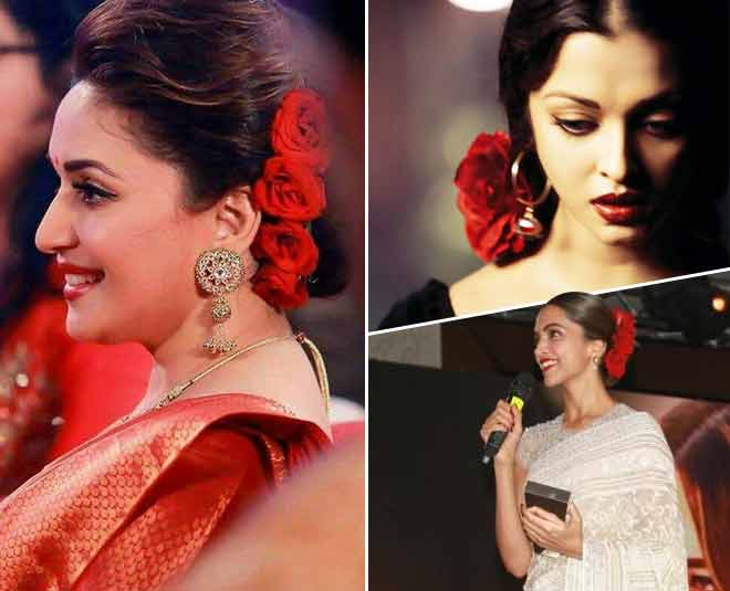 red rose hairstyle bollywood actress main