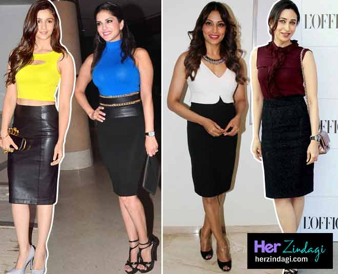 black pencil skirt bolllywood main