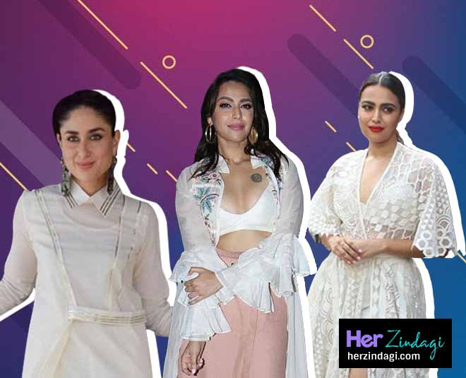 bollywood actress white outfits is latest summer fashion    ()
