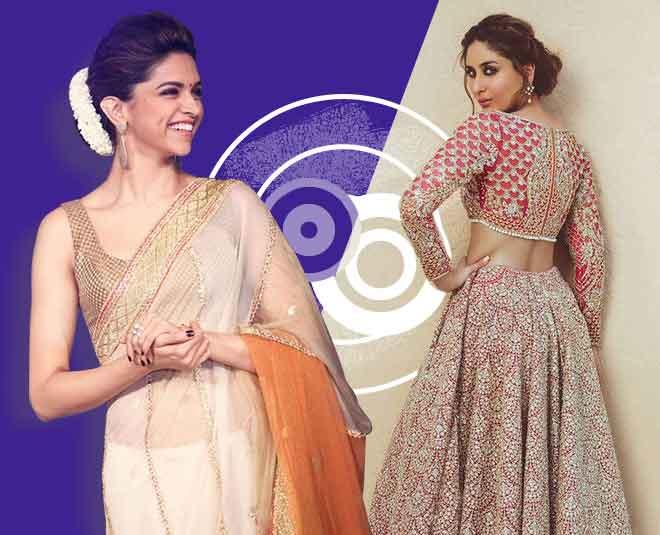 Bollywood Actress Bun Hairstyle With Saree In Hindi
