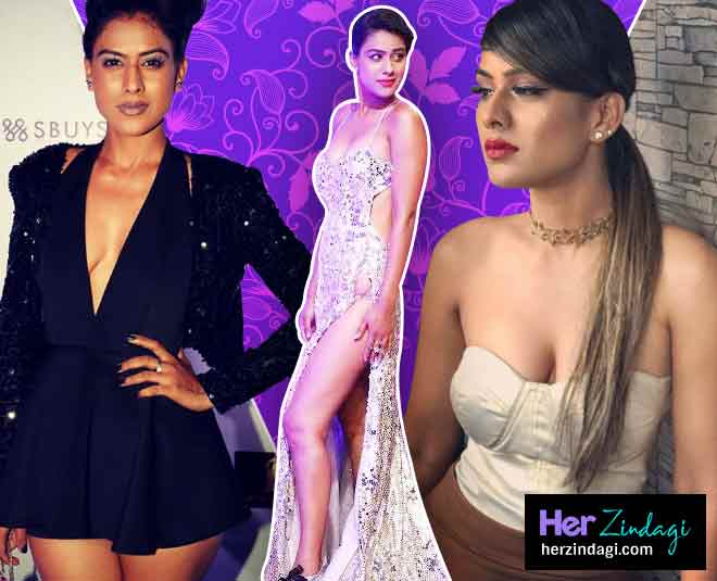 nia sharma cleavage look main
