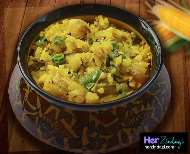 recipe of delicious corn poha main
