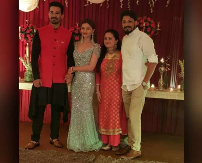 TV Actress Wedding Reception Rubina Dilaik Abhinav Shukla