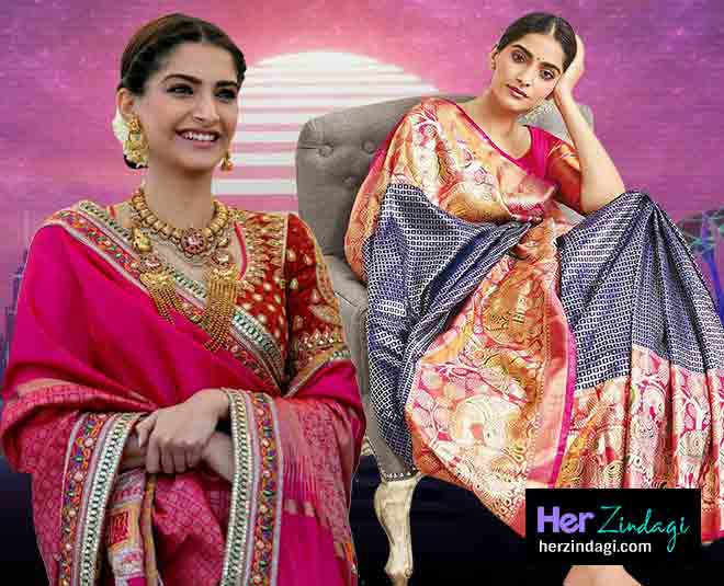 Sonam Kapoor Best Saree Look In Hindi