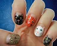 animal nail art thumb