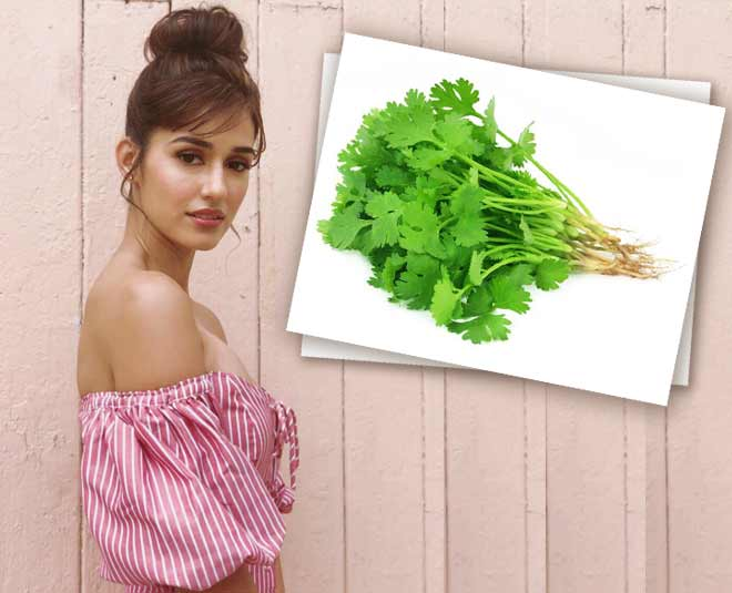 use coriander face mask to get rid of marks main