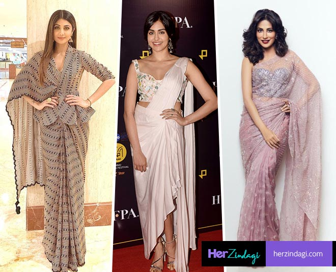 bollywood actresses in saree look main