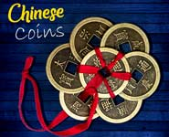 chinese coins and bells for good luck and vastu thumb