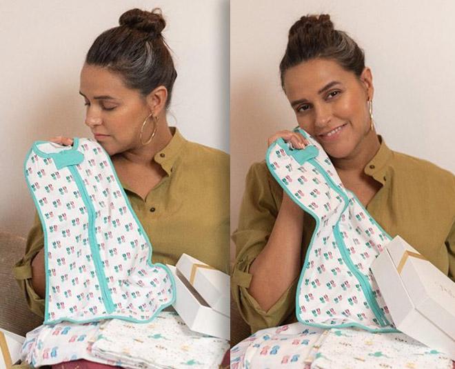 neha dhupia pregnany first baby clothes