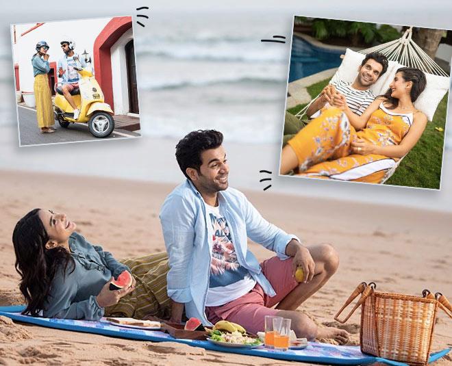 Bollywood actor raj kumar rao spending time in goa with girlfriend patralekha