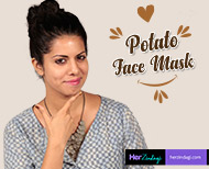 Homemade potato facial for glowing skin