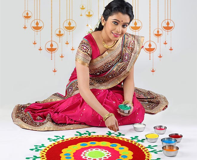 Rangoli decoration in diwali is good for your health