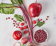 Red colour vegetables and fruits have many health benefits for women