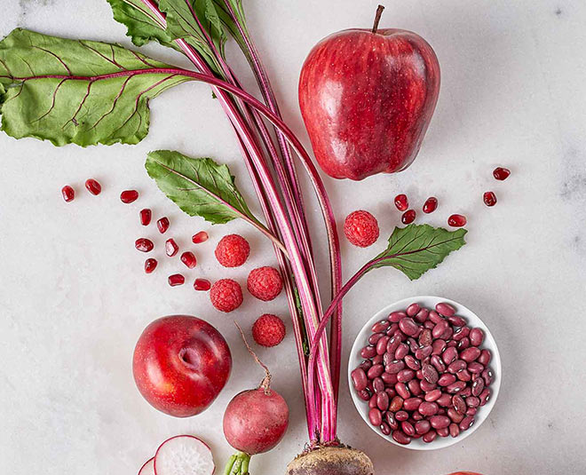 Add some red colour vegetables and fruits in your diet for ...