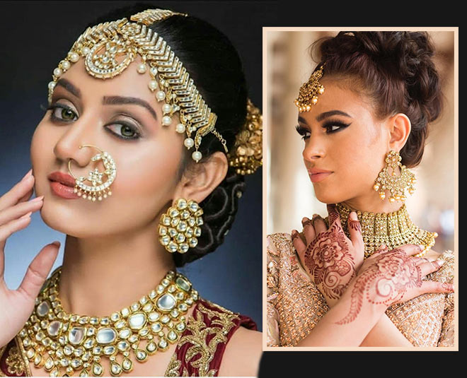 apart from gold jewellery brides can also purchase moti kundan and silver jewellery