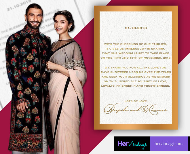 Why Are Deepika And Ranveer Getting Married On 15th November