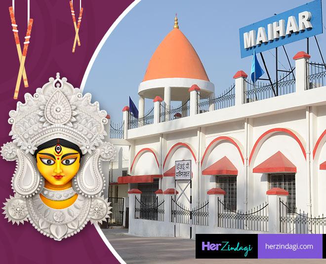 goddess durga necklace worship in maihar temple at madhya Pradesh
