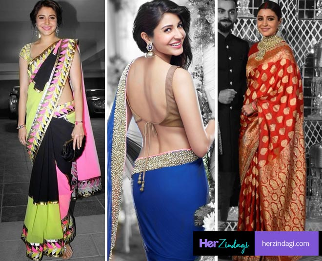 anushka shamra saree blouse main