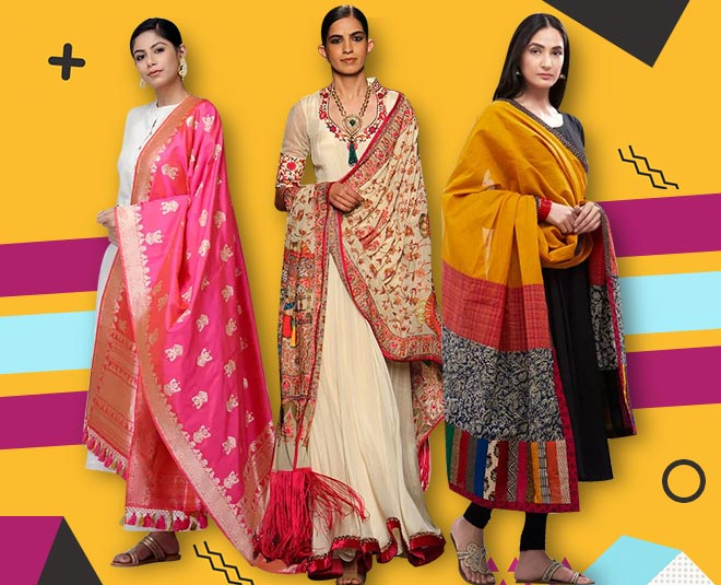 types of dupatta with plain suit article