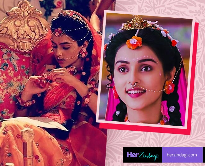 Radhakrishn tv serial radha rani flower jewellery fashion trend