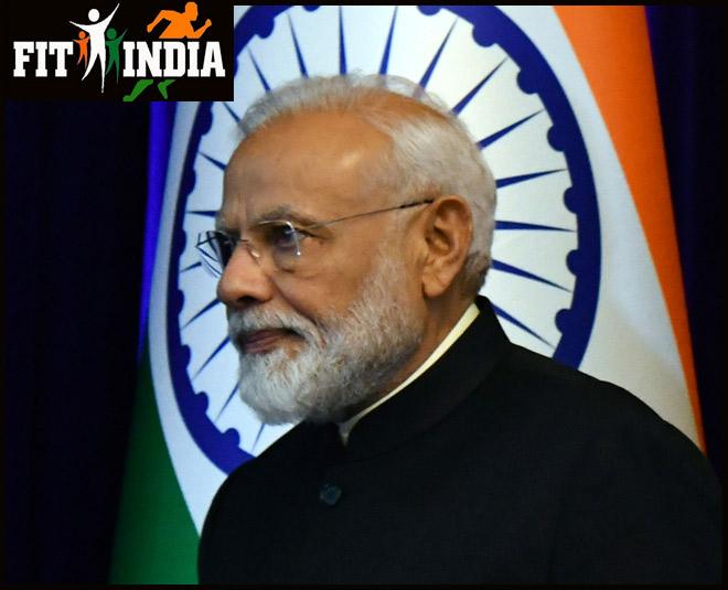 Narendra Modi Fit India main