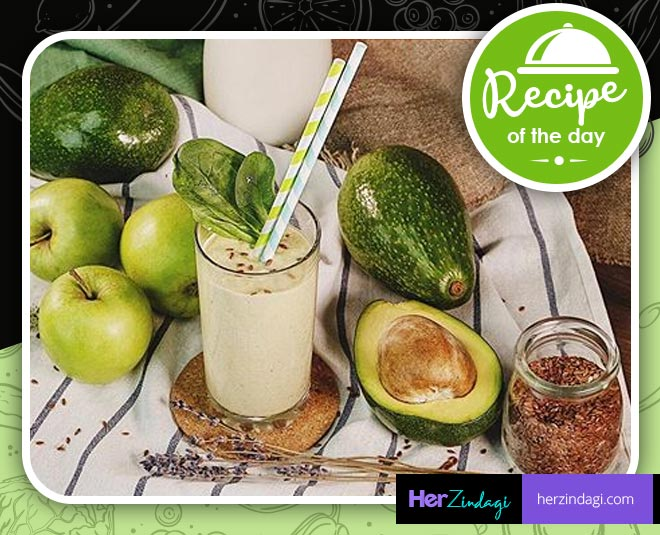 apple avocado flaxseed smoothie main