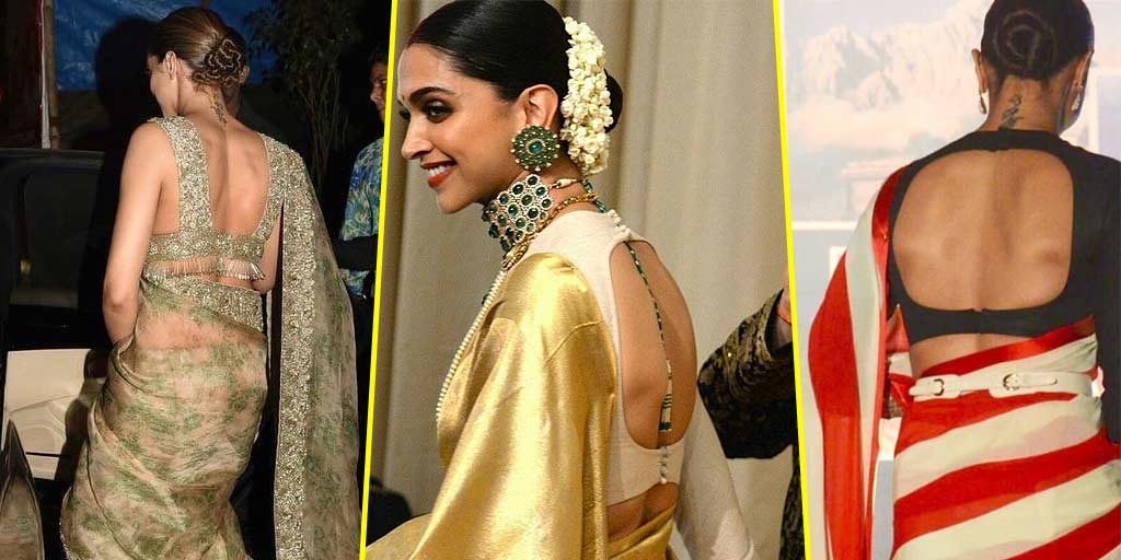 6 Back Neck Blouse Designs To Steal From Deepika Padukone