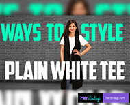 fashion tips look stylish in white t shirt