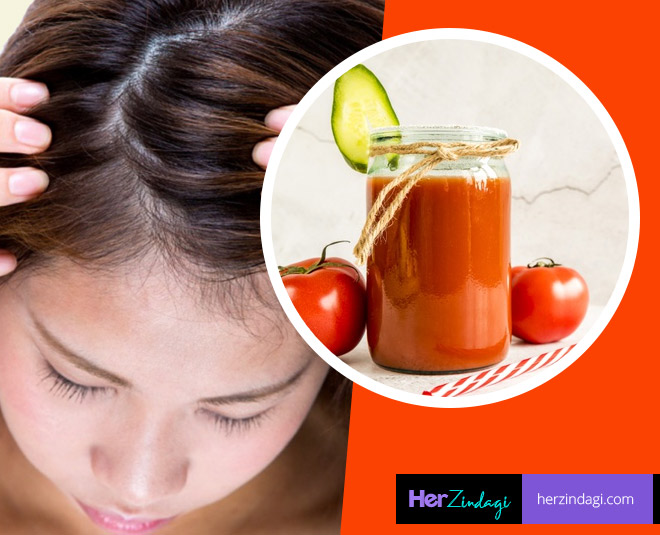 how to make tomato hair mask