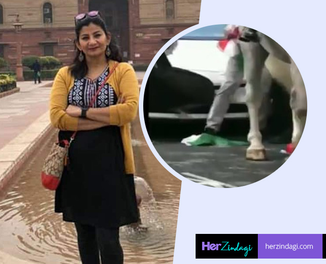 indian journalist poonam joshi saves tricolour main
