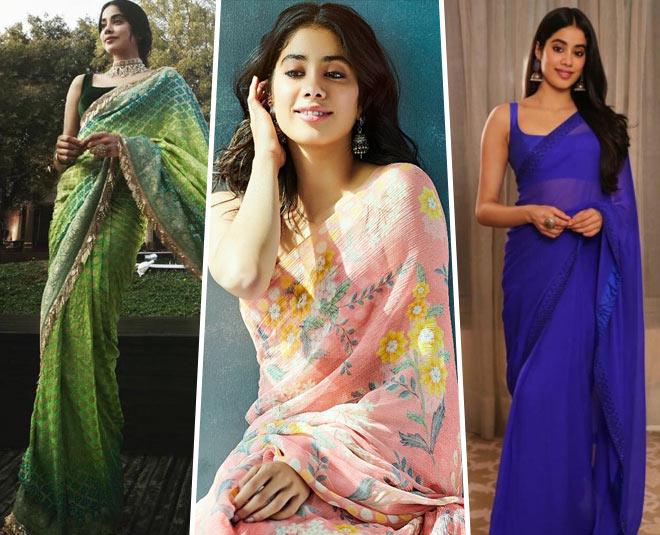 janhvi best saree looks