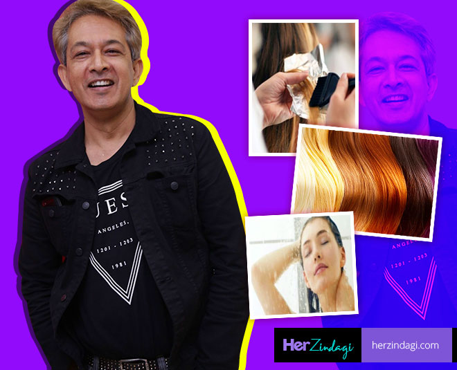 jawed habib talks about hair care for coloured hair M