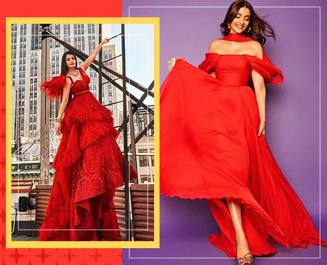 sonam kapoor and aishwarya rai in red gown main