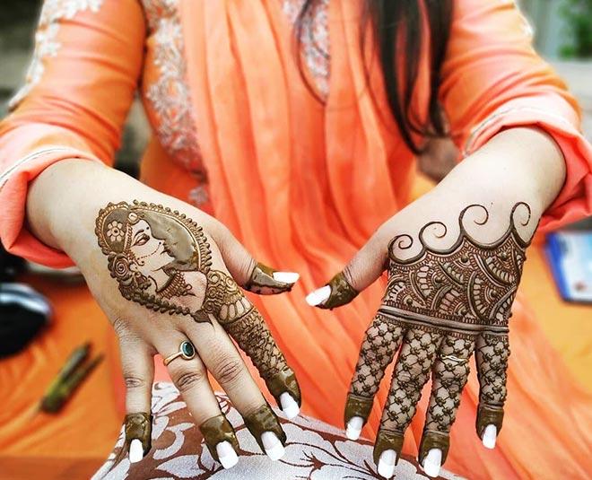 trending minimal  mehendi designs  for bride Main