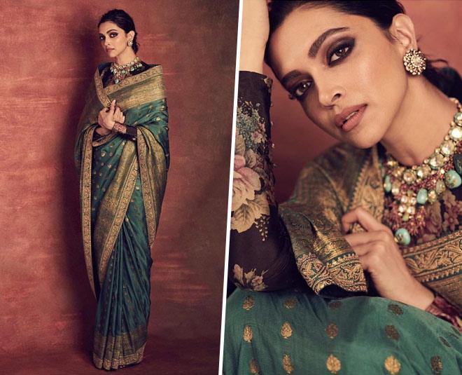 Recreate: Deepika Padukone Green Sabyasachi Saree Is Ideal ...