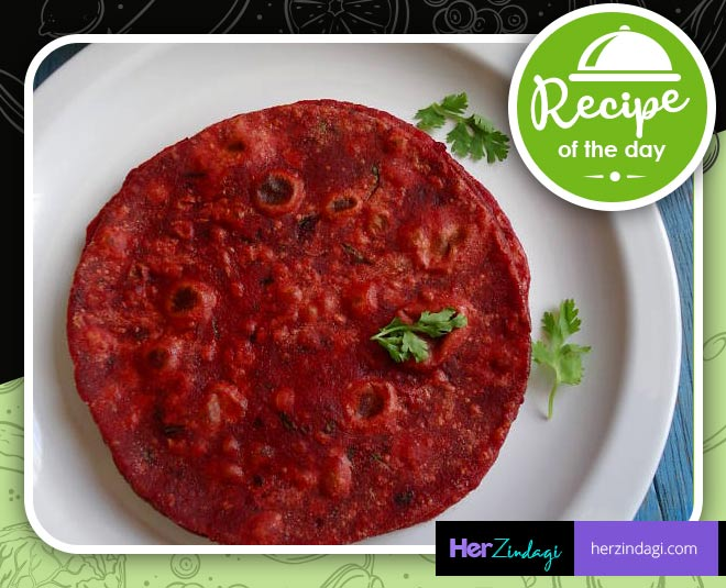 easy recipe of beetroot paratha