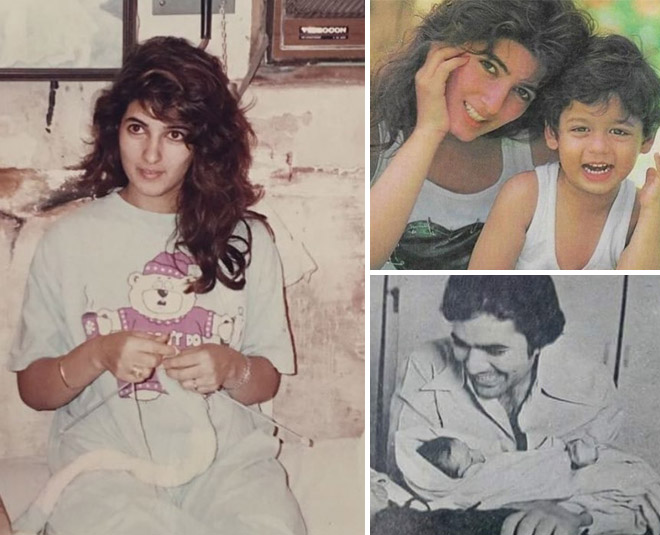 Twinkle Khanna Childhood Pictures With Father Rajesh ...