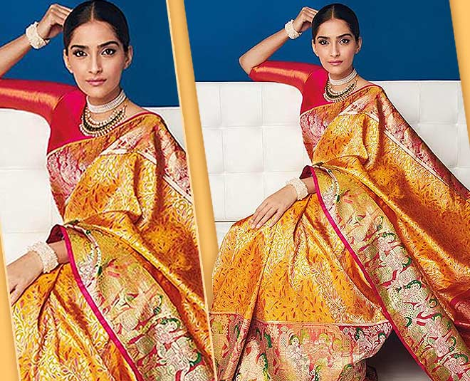 Basant panchami  yellow outfits sonam saree