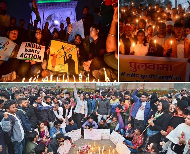 candle march rally against terror attack on indian army pulwama main