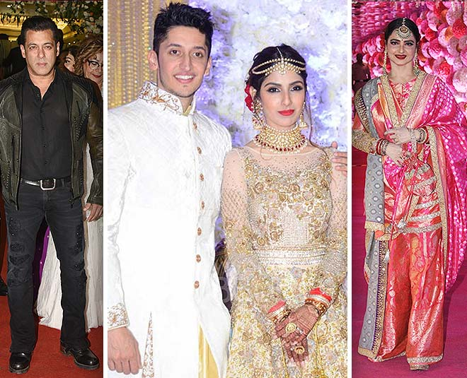rekha sharara look at bollywood star studded morani wedding main